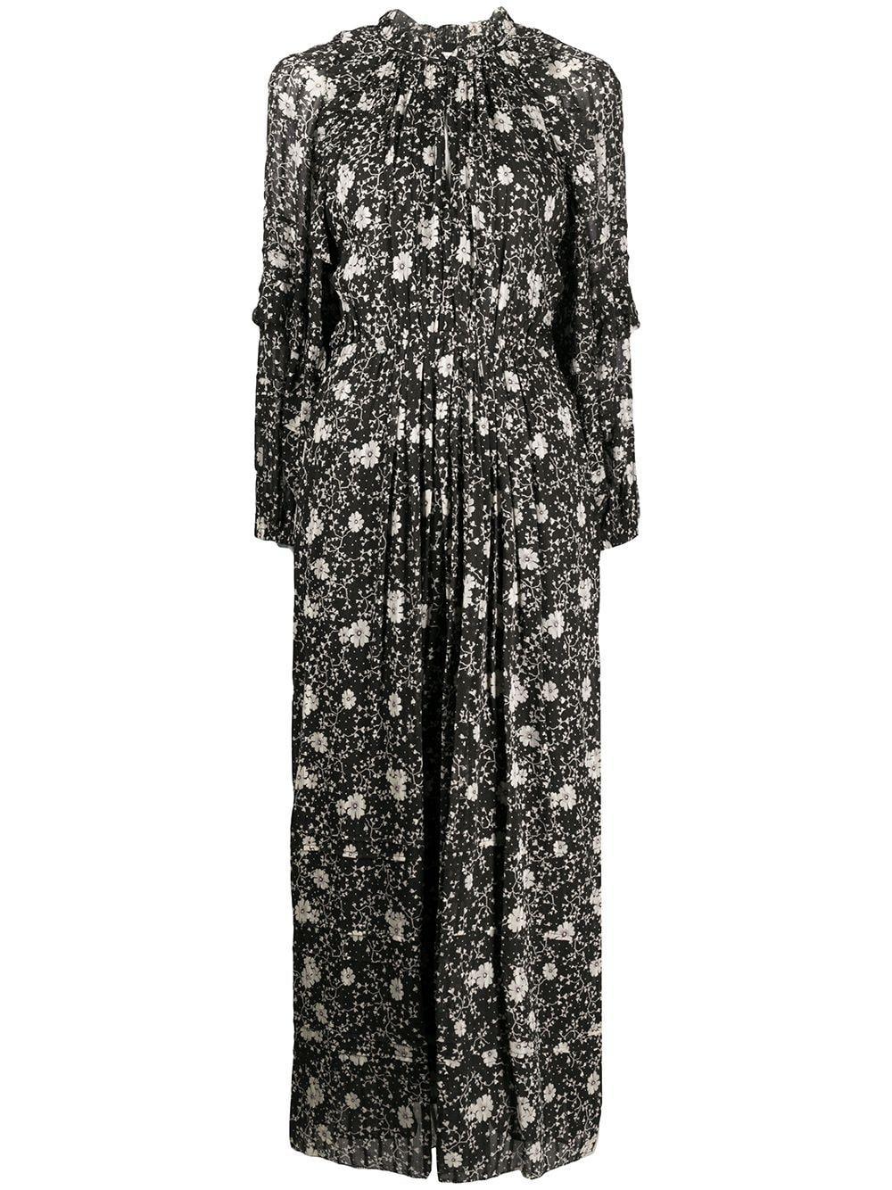 Long Sleeve Floral Print Maxi Dress Item # ESTINE