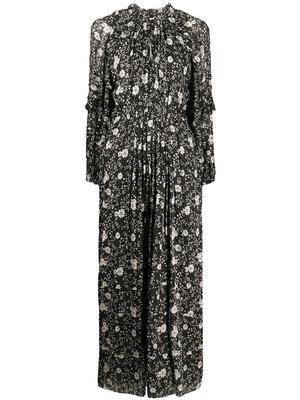 Long Sleeve Floral Print Maxi Dress