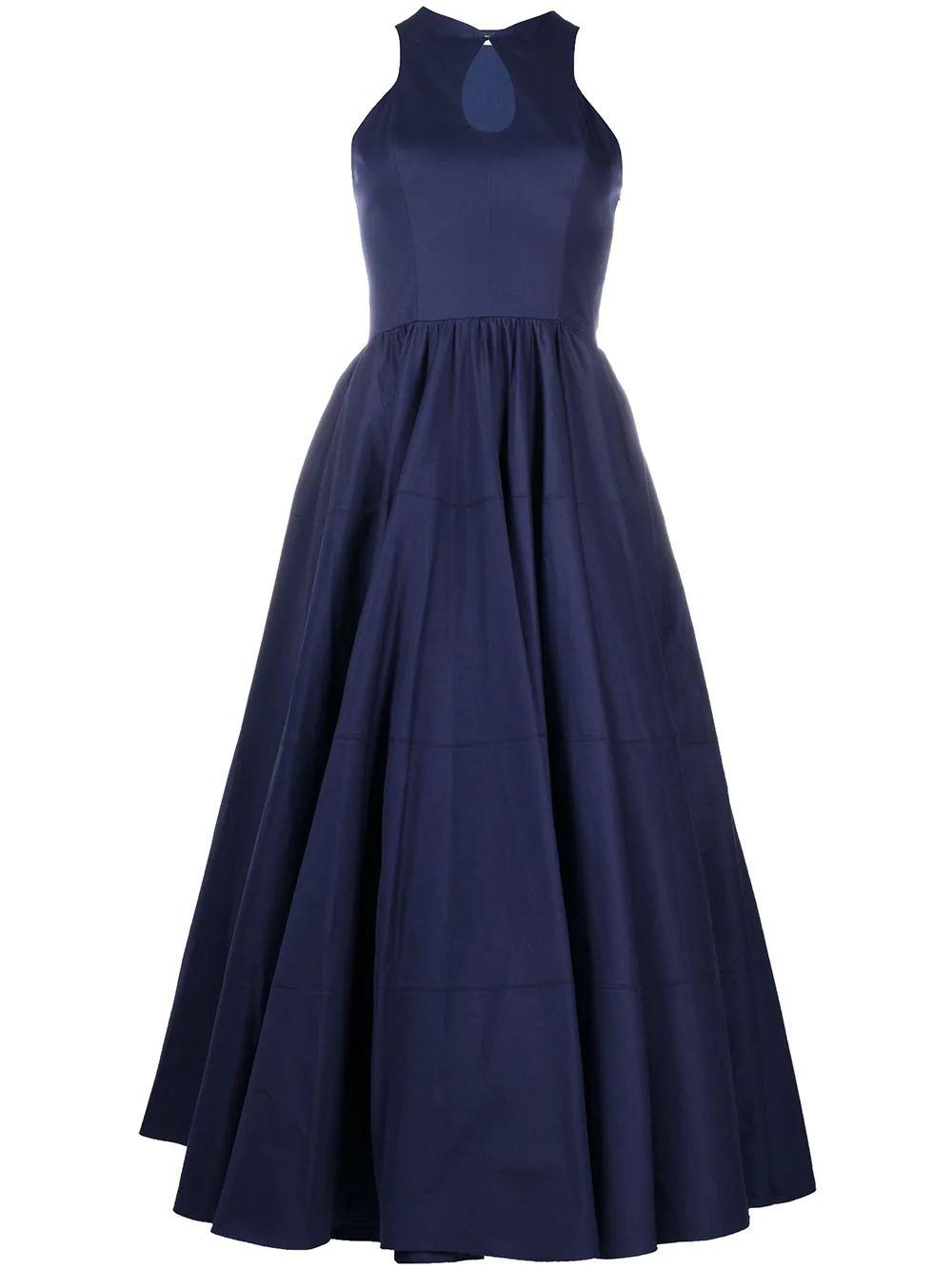 Sleeveless Keyhole Midi Dress With Full Skirt Item # AS9RK38LT235