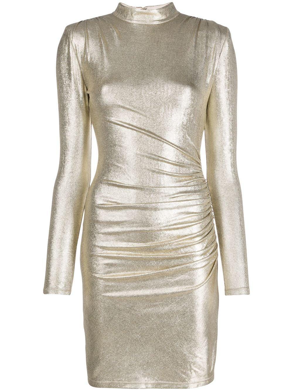 Hilary Ruched Mock Neck Dress Item # CC912M10523