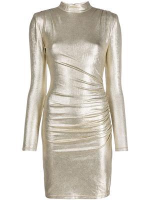 Hilary Ruched Mock Neck Dress