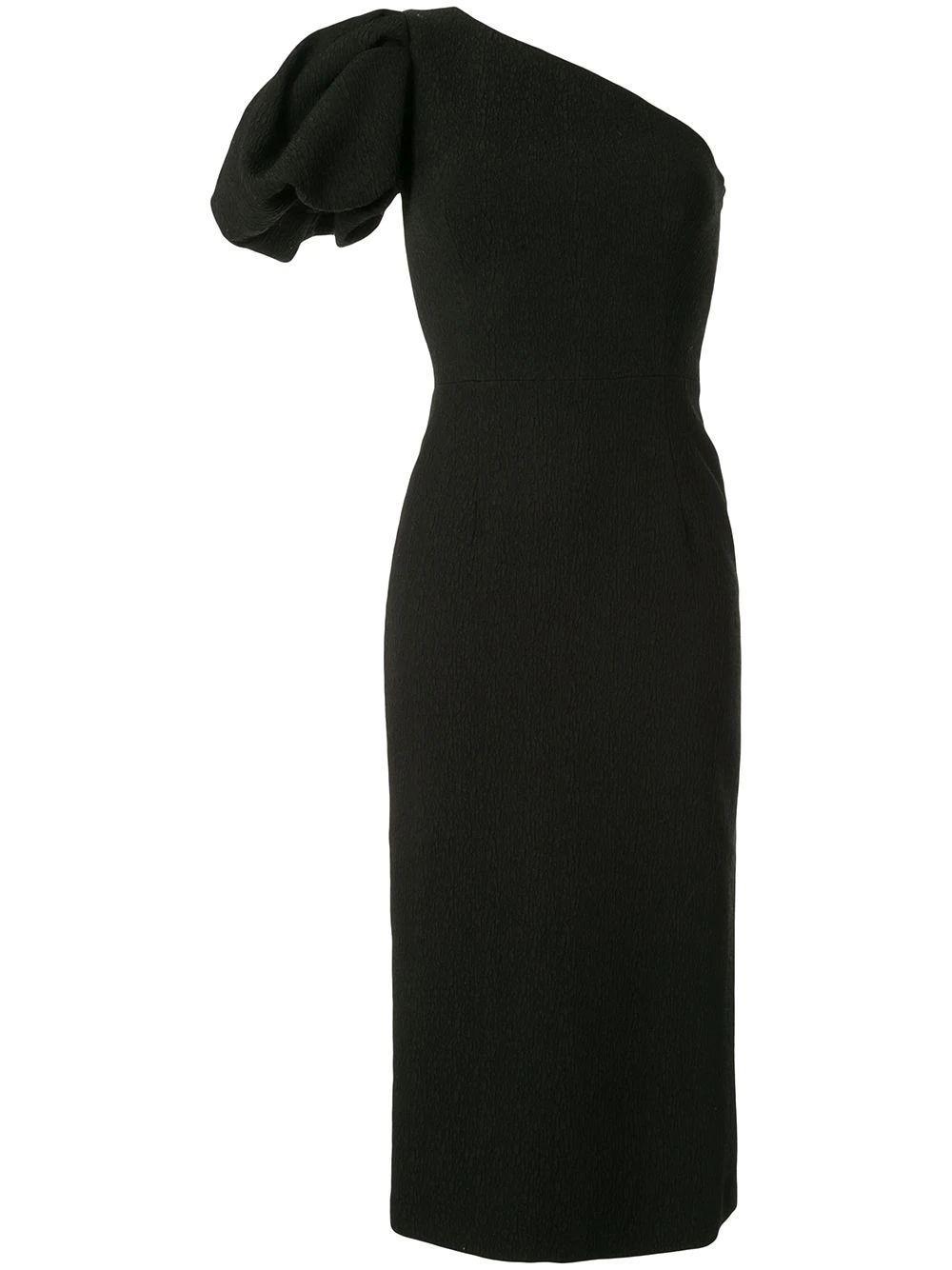 Natalia One Shoulder Midi Dress Item # 2001-1678