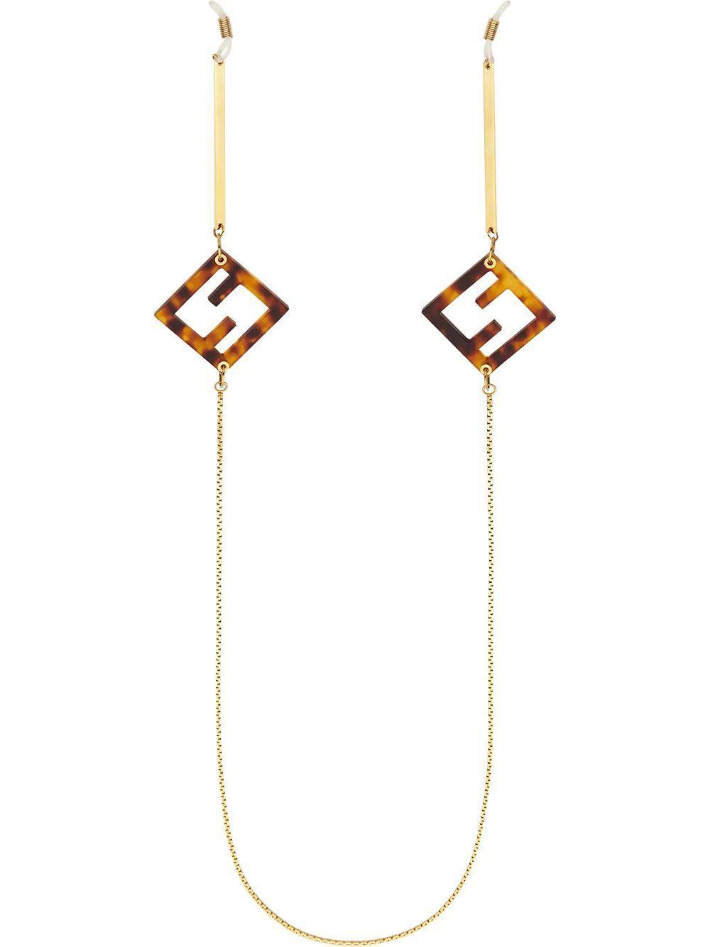 Metal/Plexi Pendant Necklace