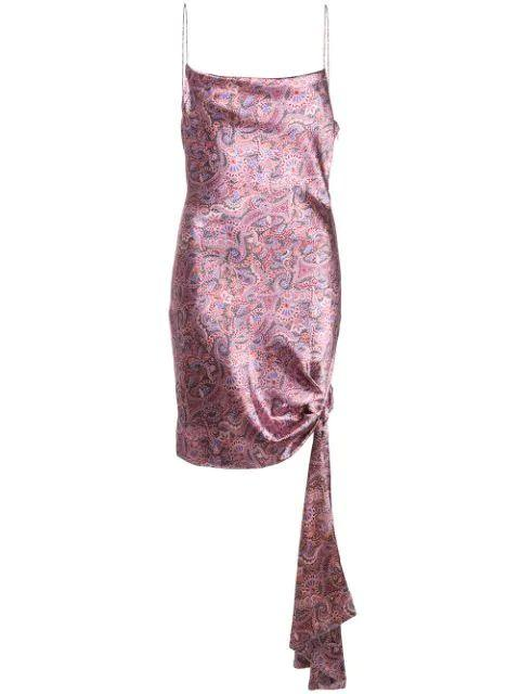Ryder Paisley Satin Mini Dress