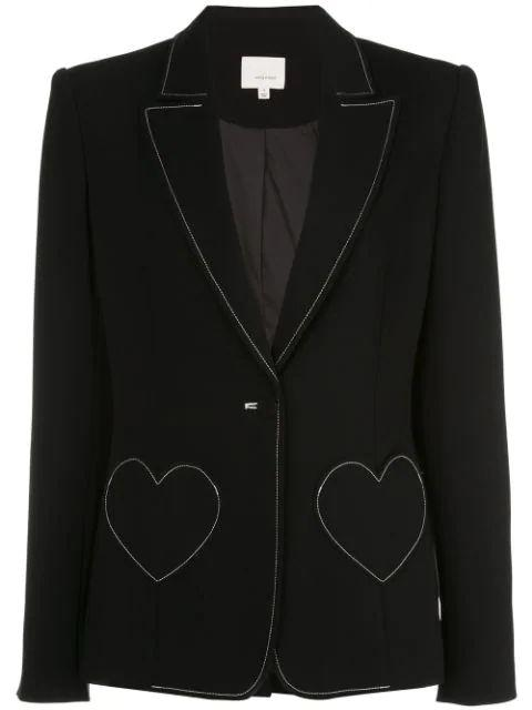 Annie Heart Pocked Top Stitch Blazer Item # ZJ3121319Z