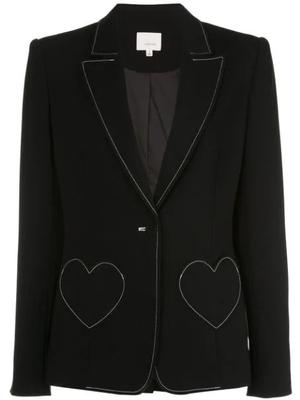 Annie Heart Pocked Top Stitch Blazer