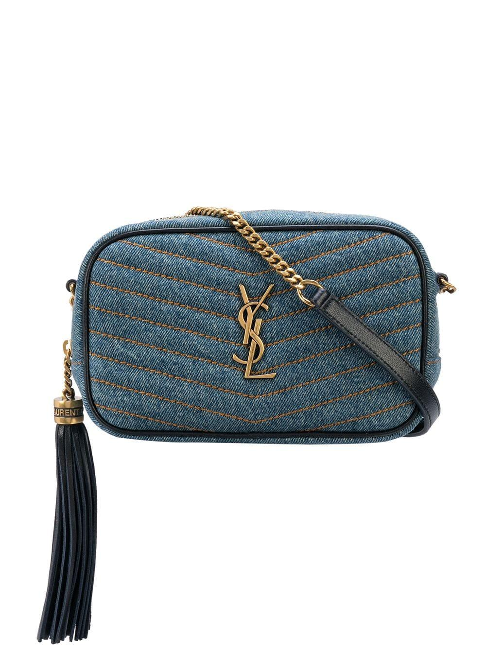 Mini Lou Denim Bag With Chain