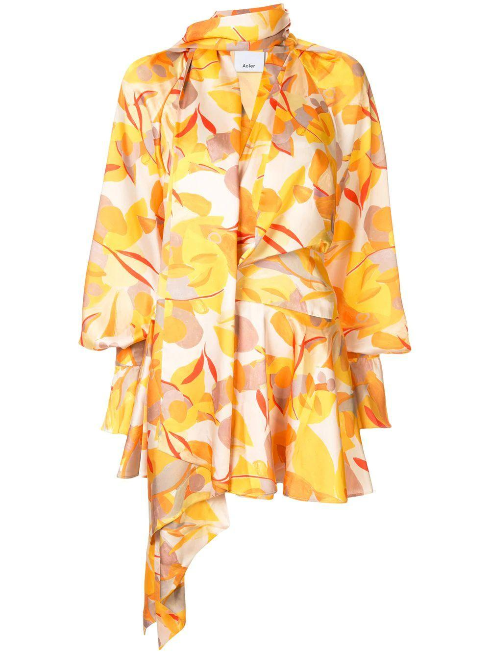 Bradgley Printed Wrap Dress
