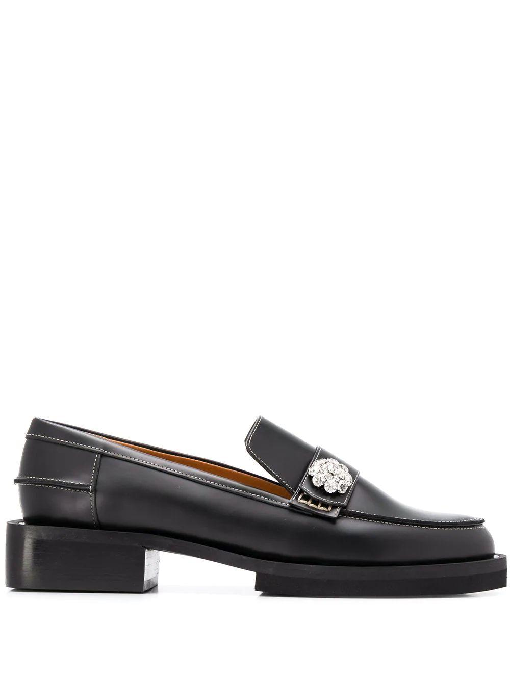 Jewel Loafer With Accent