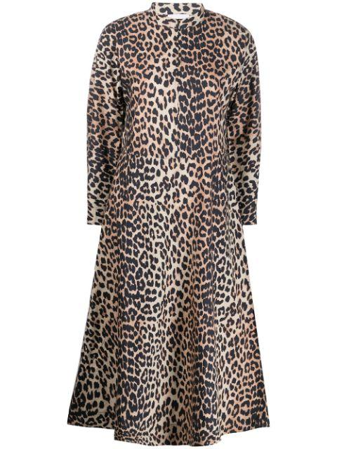 Printed Cotton Poplin Shirt Dress Item # F4590