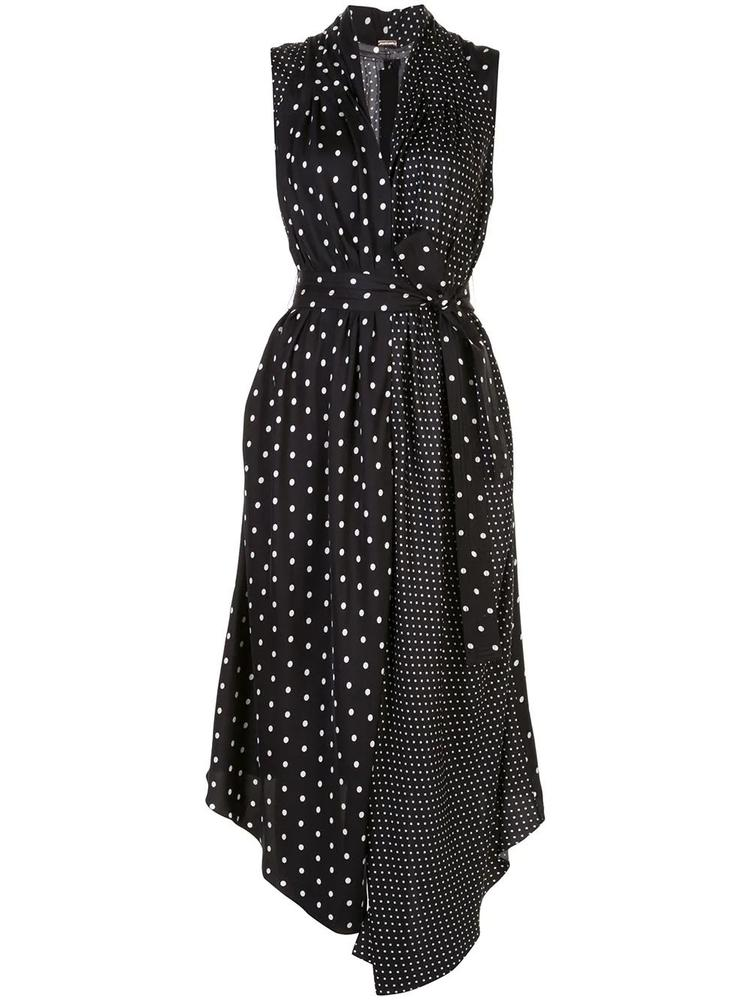 Sleeveless Polka Dot Asymmetric Dress