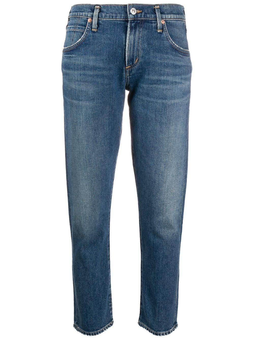 Elsa Mid Rise Slim Fit Crop Jean