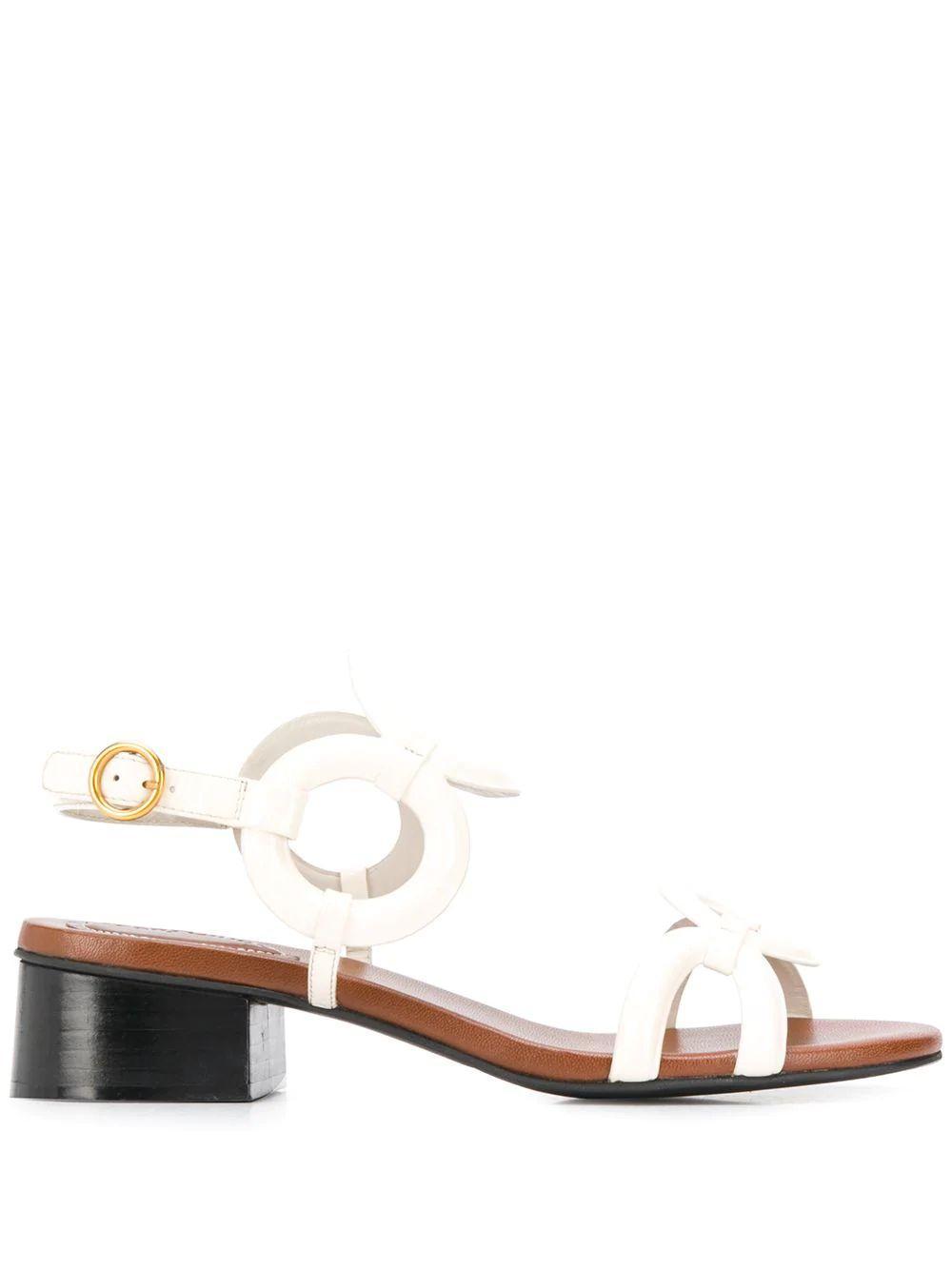 Rings Strap Block Heel Sandal