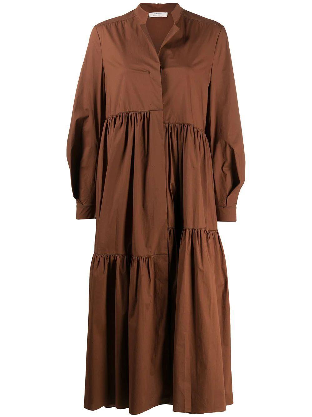 Poplin Power Long Sleeve Midi Dress Item # 748201-S20