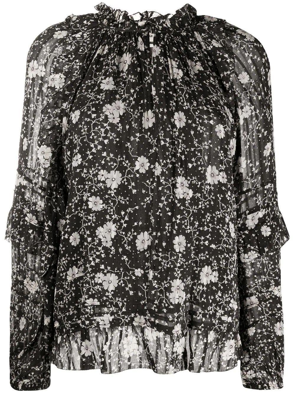 L/S Floral Print Blouse Item # EYDEN