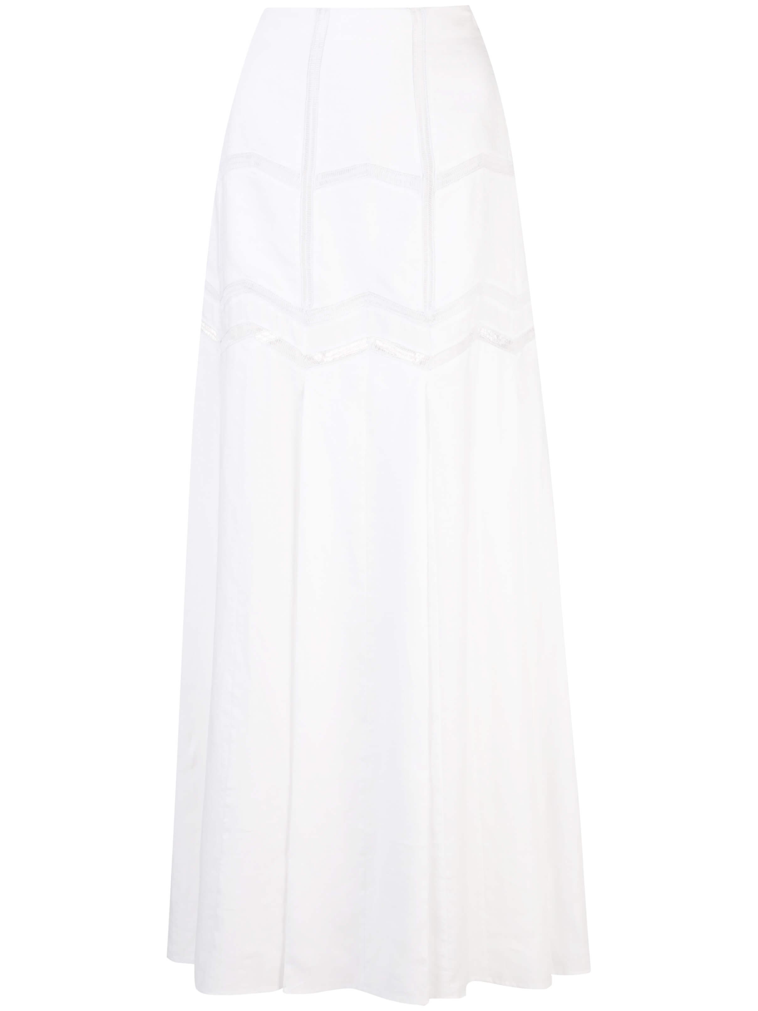 Faure Linen Herringbone Skirt