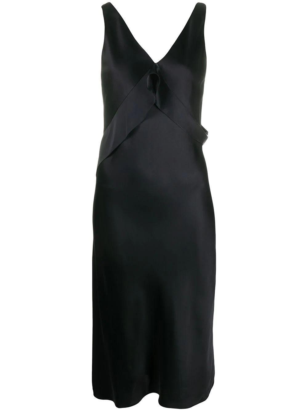 Double Satin Sash Dress Item # K01HW605
