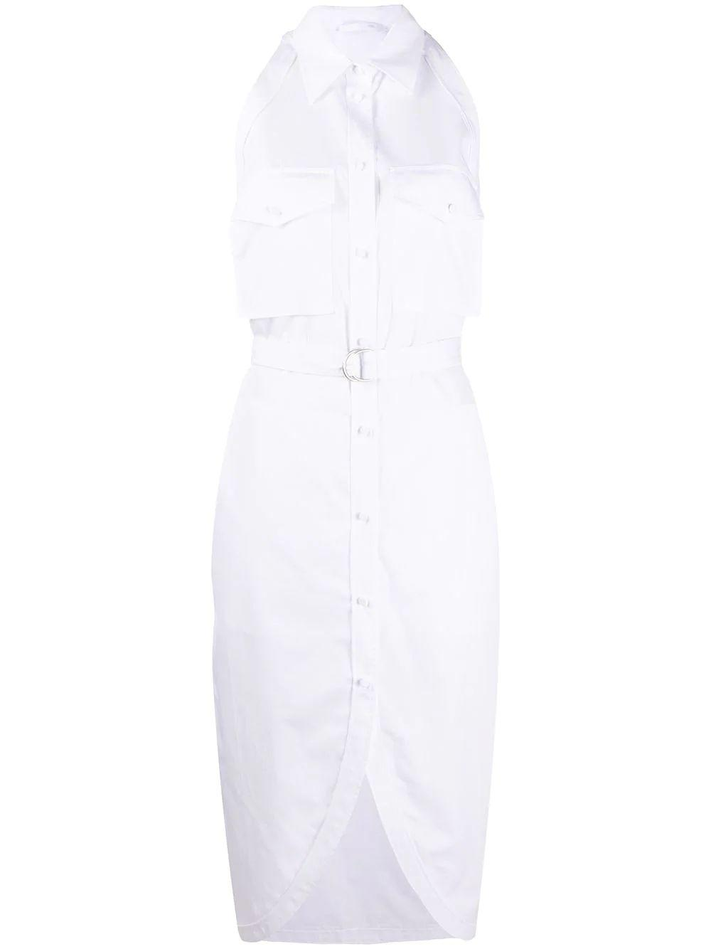 Italian Cotton Poplin Shirt Dress Item # K01HW608