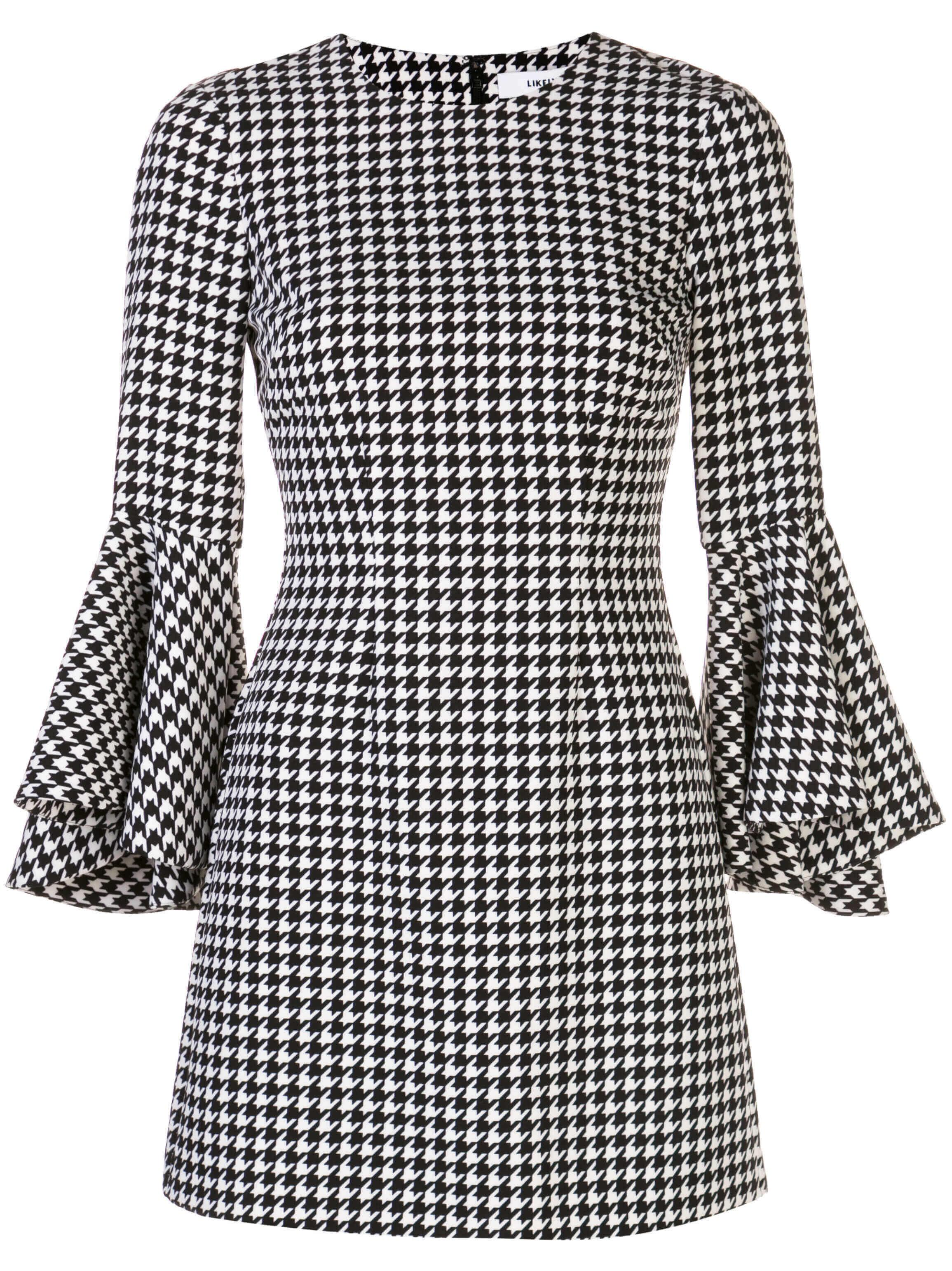 Houndstooth Mallory Dress