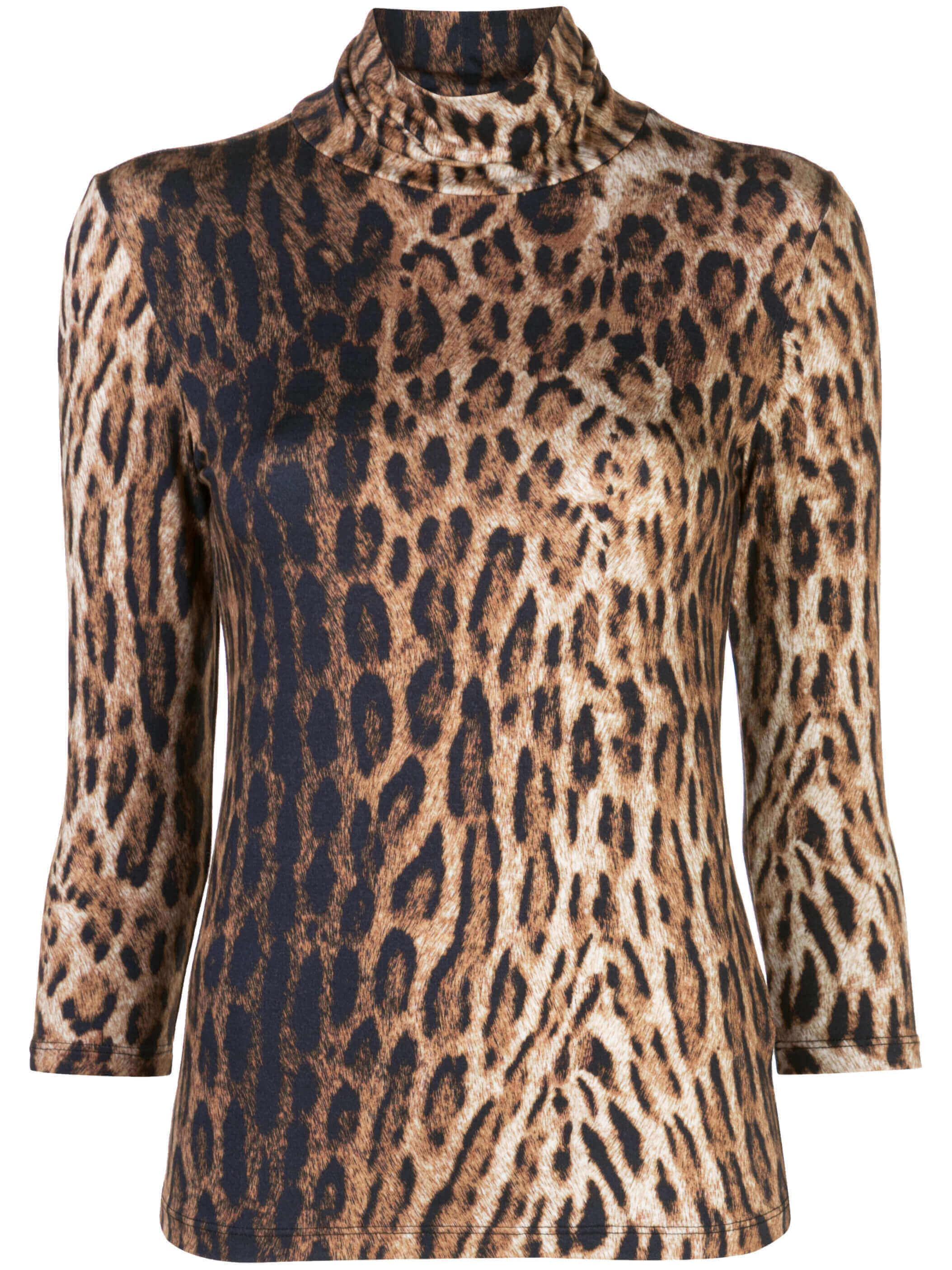 Aja Leopard Turtleneck
