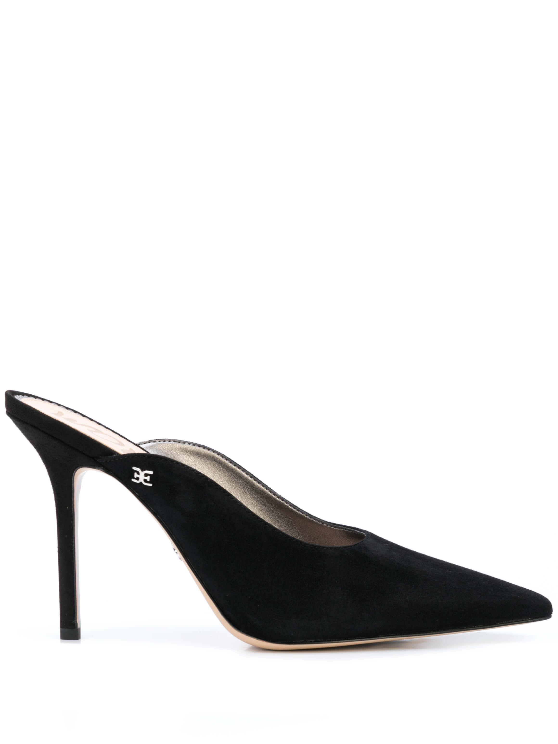 Suede Pointed Toe High Heel Mule Item # ADDILYN-SUE