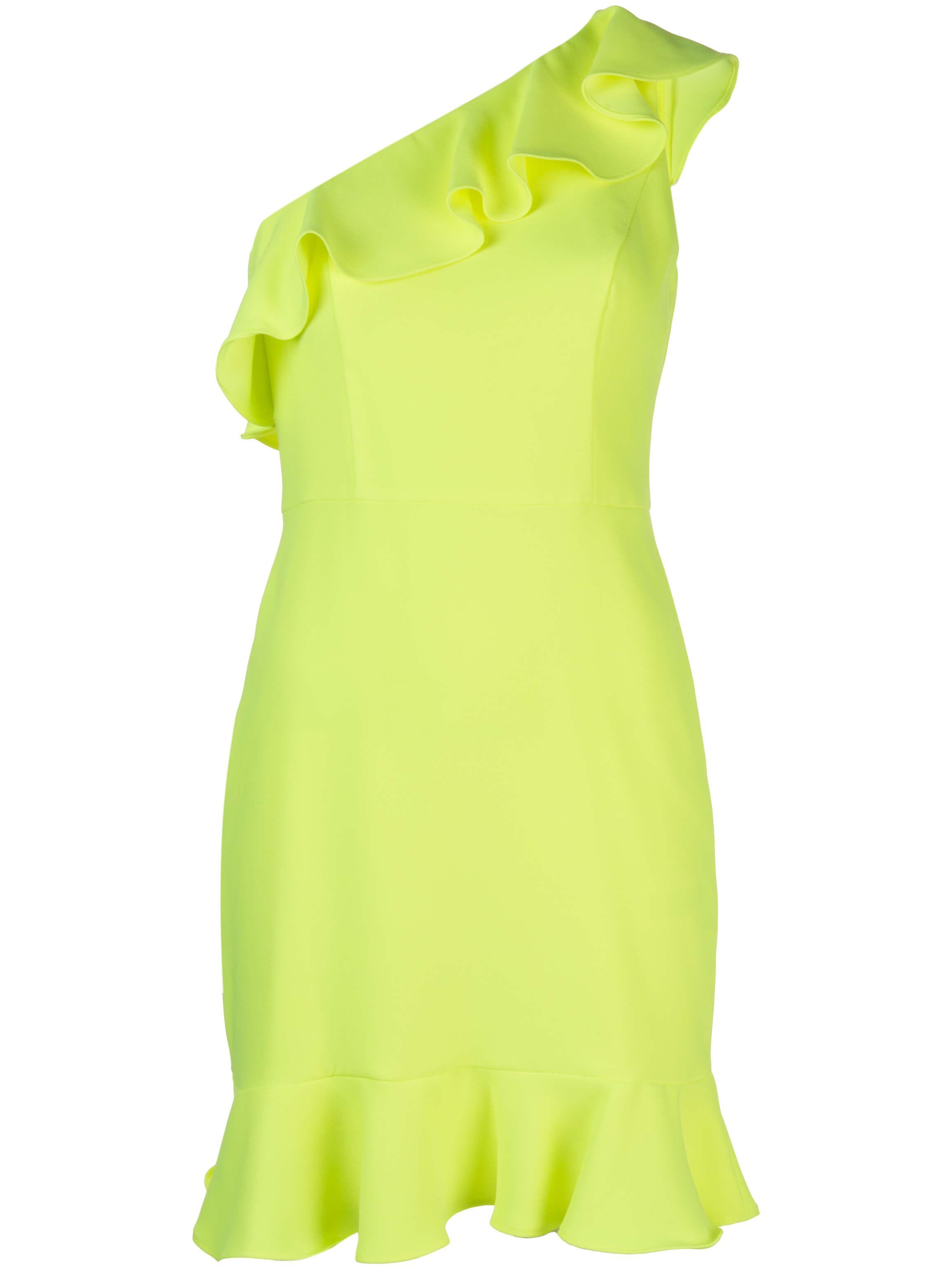 One Shoulder Ruffle Flounce Dress Item # MN1E203720