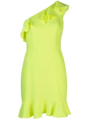 One Shoulder Ruffle Flounce Dress