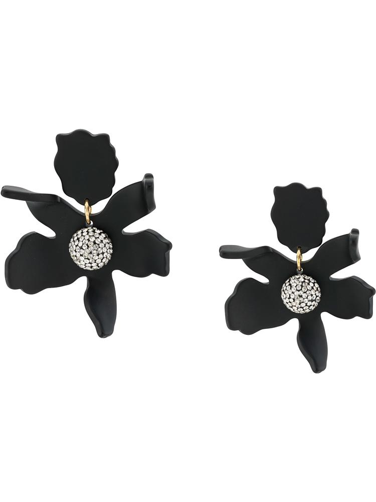 Small Crystal Lily Earrings Item # LS0625JT