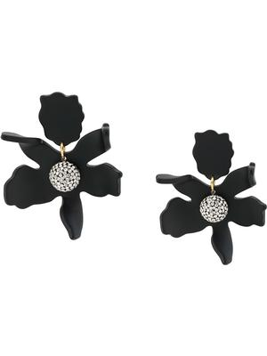 Small Crystal Lily Earrings