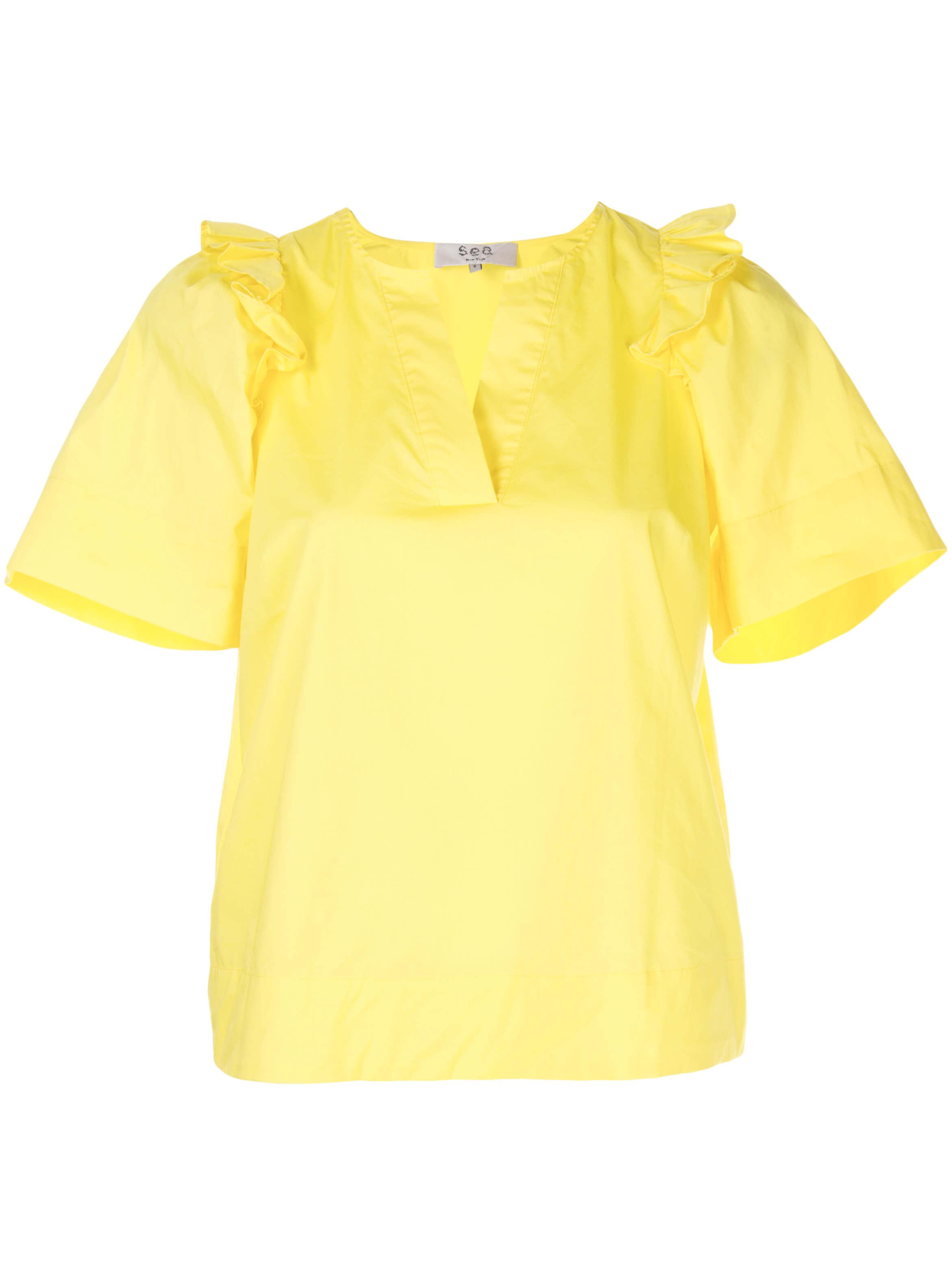Tabitha Ruffle Short Sleeve Top Item # SS20-98