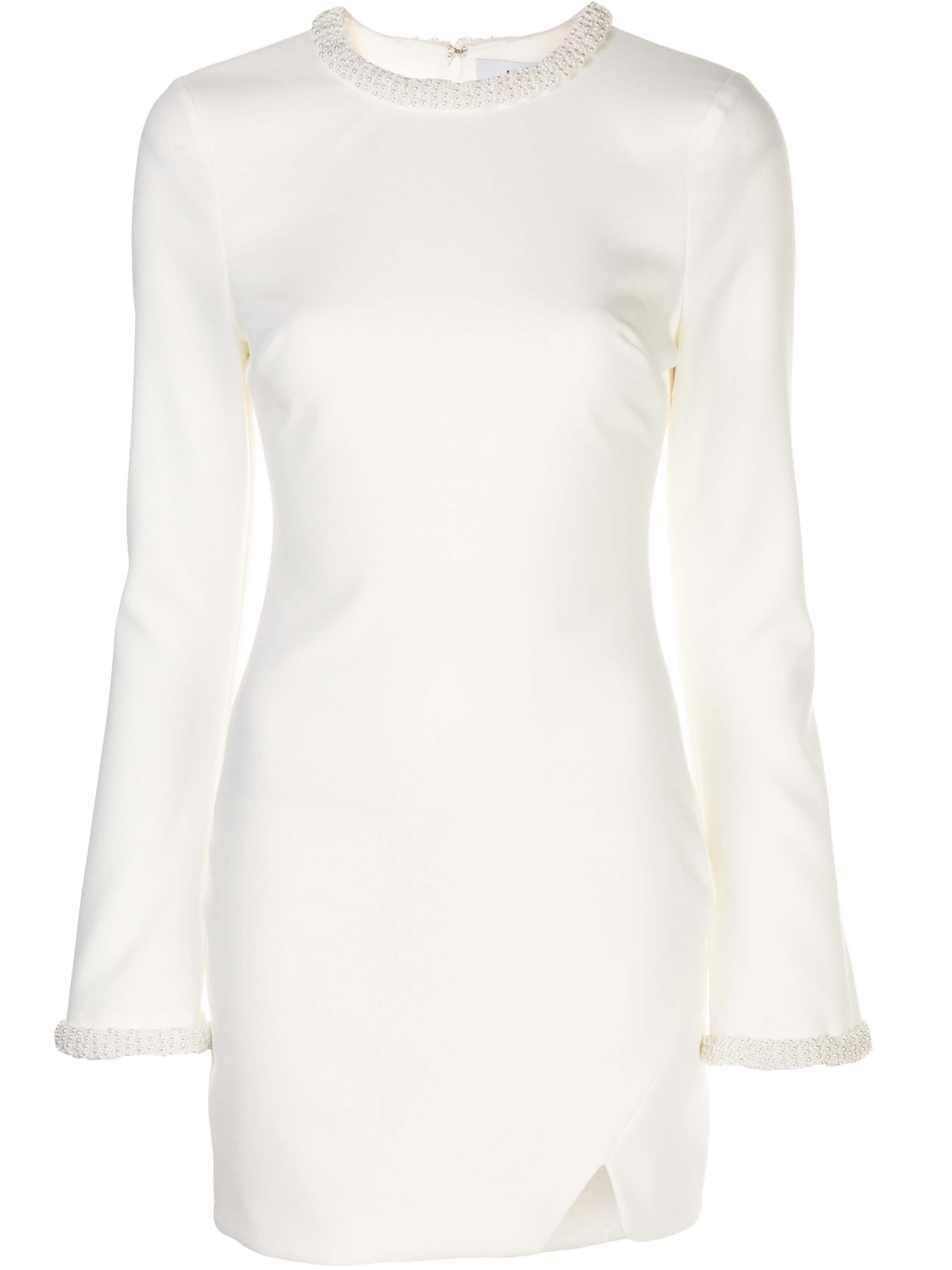 Mabel Long Sleeve Embellished Trim Dress