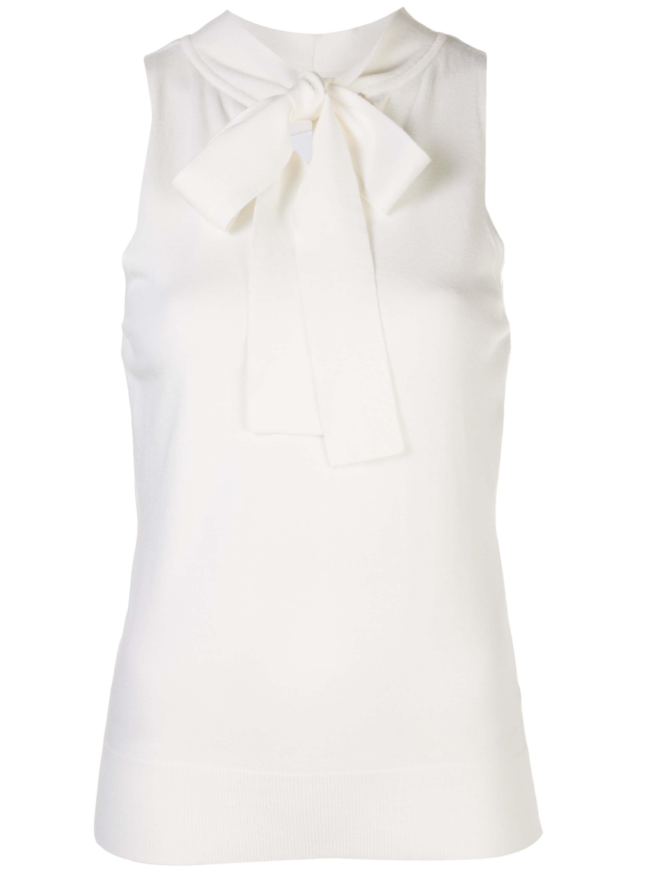 Tie Neck Sleeveless Knit Shell Item # KRT005