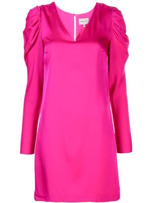 Stretch Silk Janelle Puff Sleeve Dress