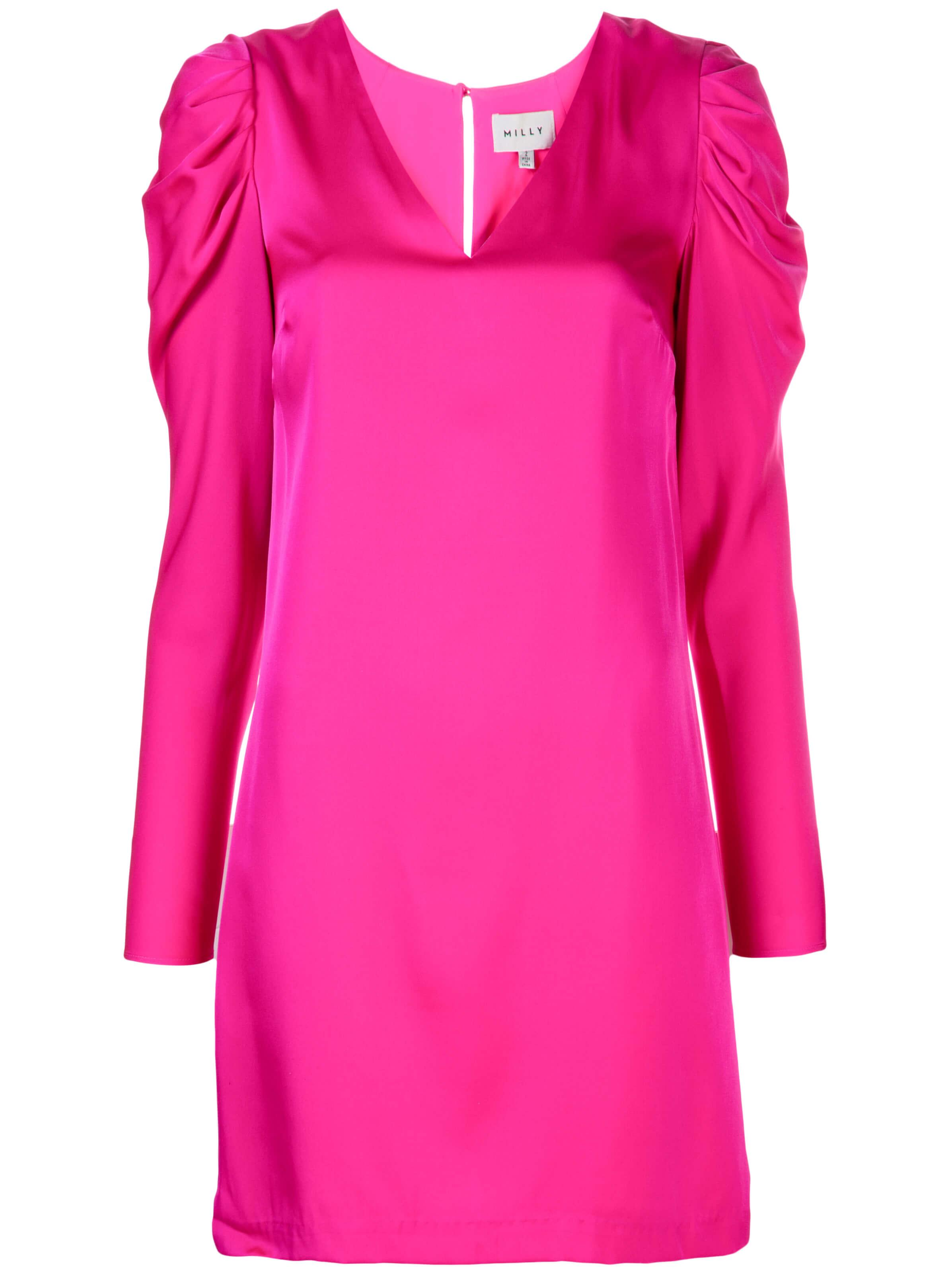 Stretch Silk Janelle Puff Sleeve Dress