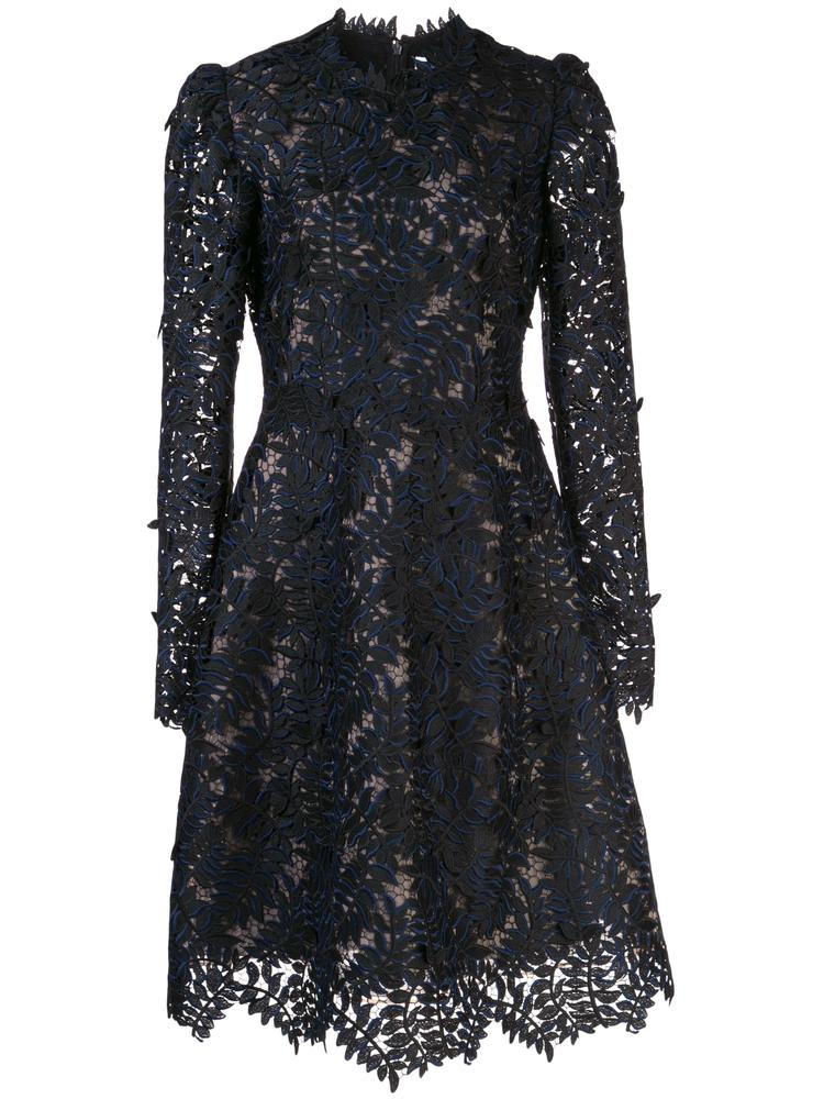 Long Sleeve Lace Knee Length Dress