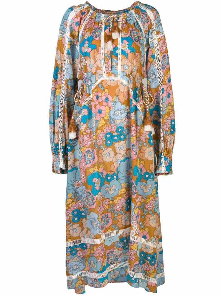 Toto Long Sleeve Maxi  With Faggoting