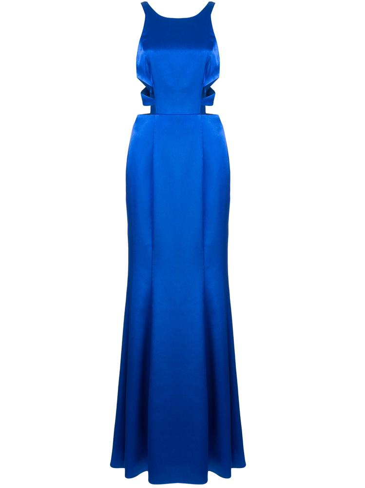 Liquid Satin Cutout Gown