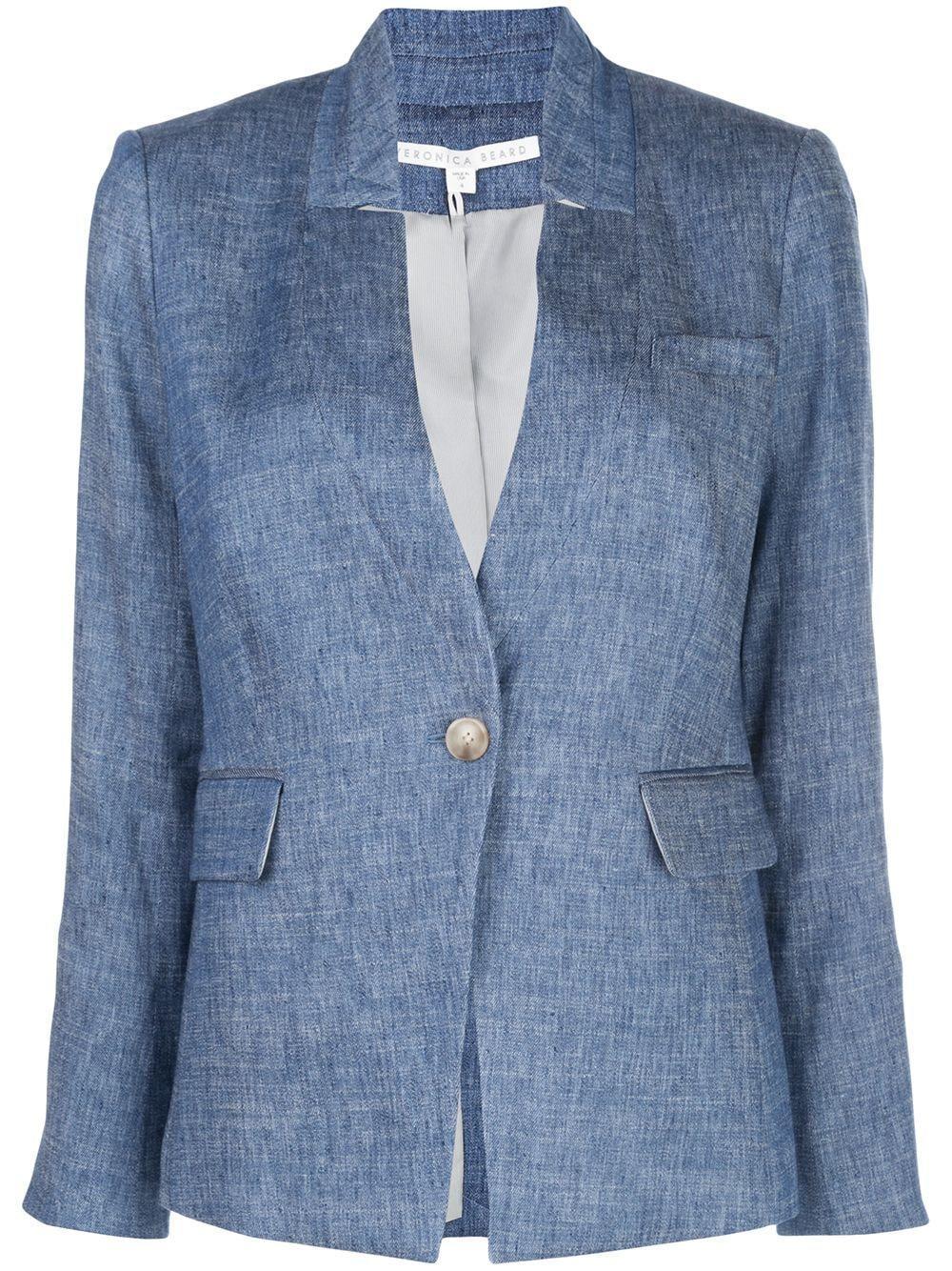 Linen Up Collar Jacket Item # CORELN0081293-S20