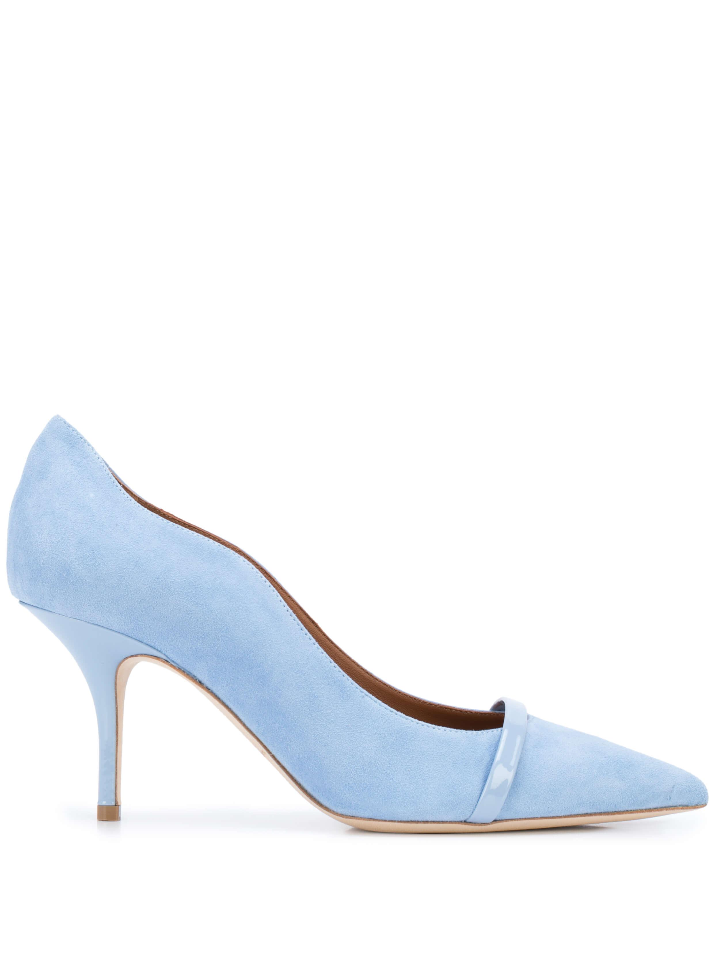 Suede/Patent 70mm Pump Item # MAYBELLE70-6