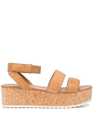 Cork Platform Ankle Strap Sandal