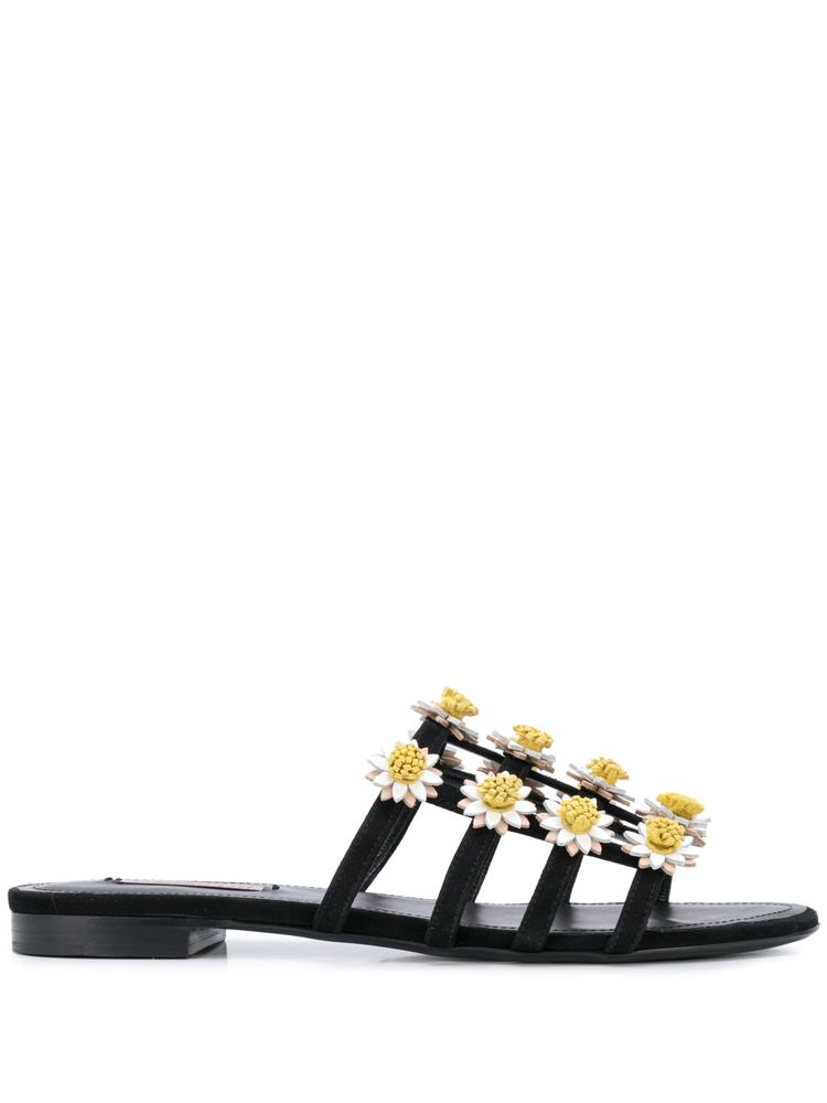 Daisy Suede Slide With Daisies