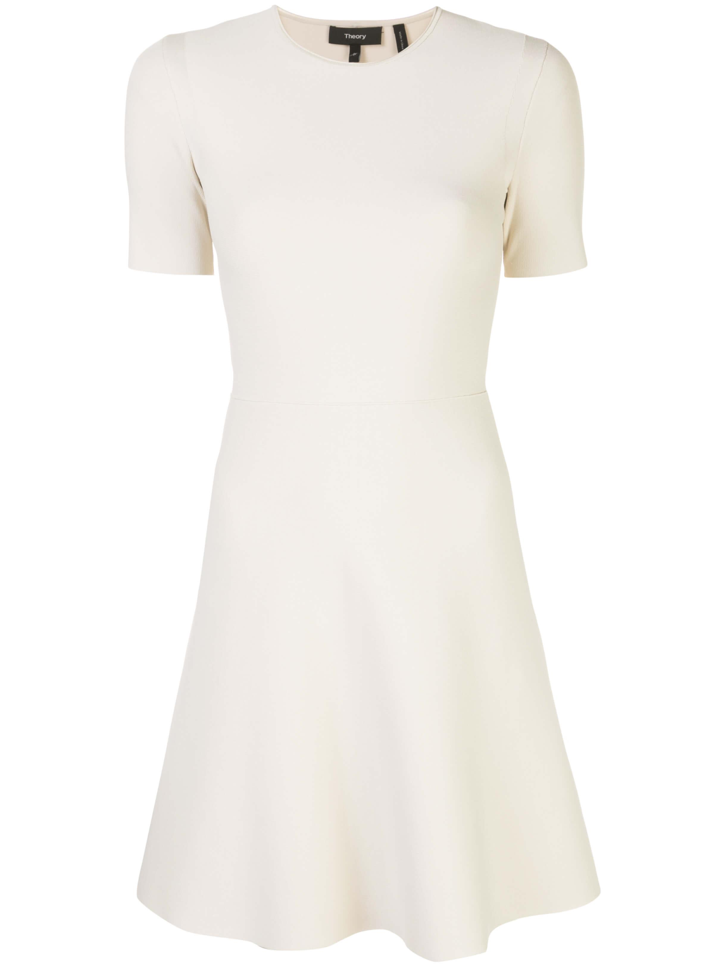 Intsia Short Sleeve Flare Dress