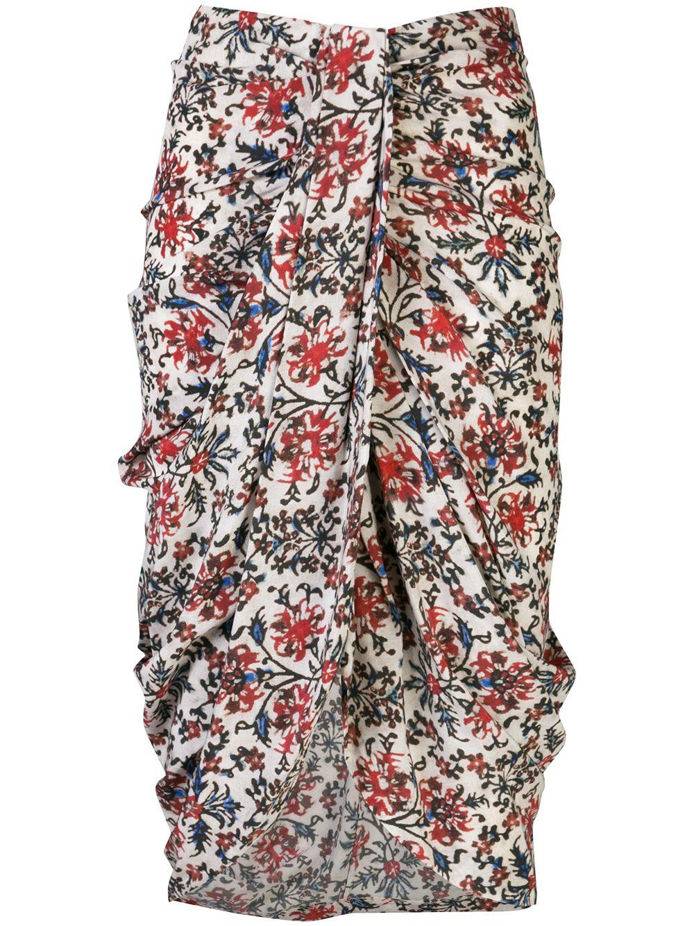 Fetina Floral Printed Gathered Skirt