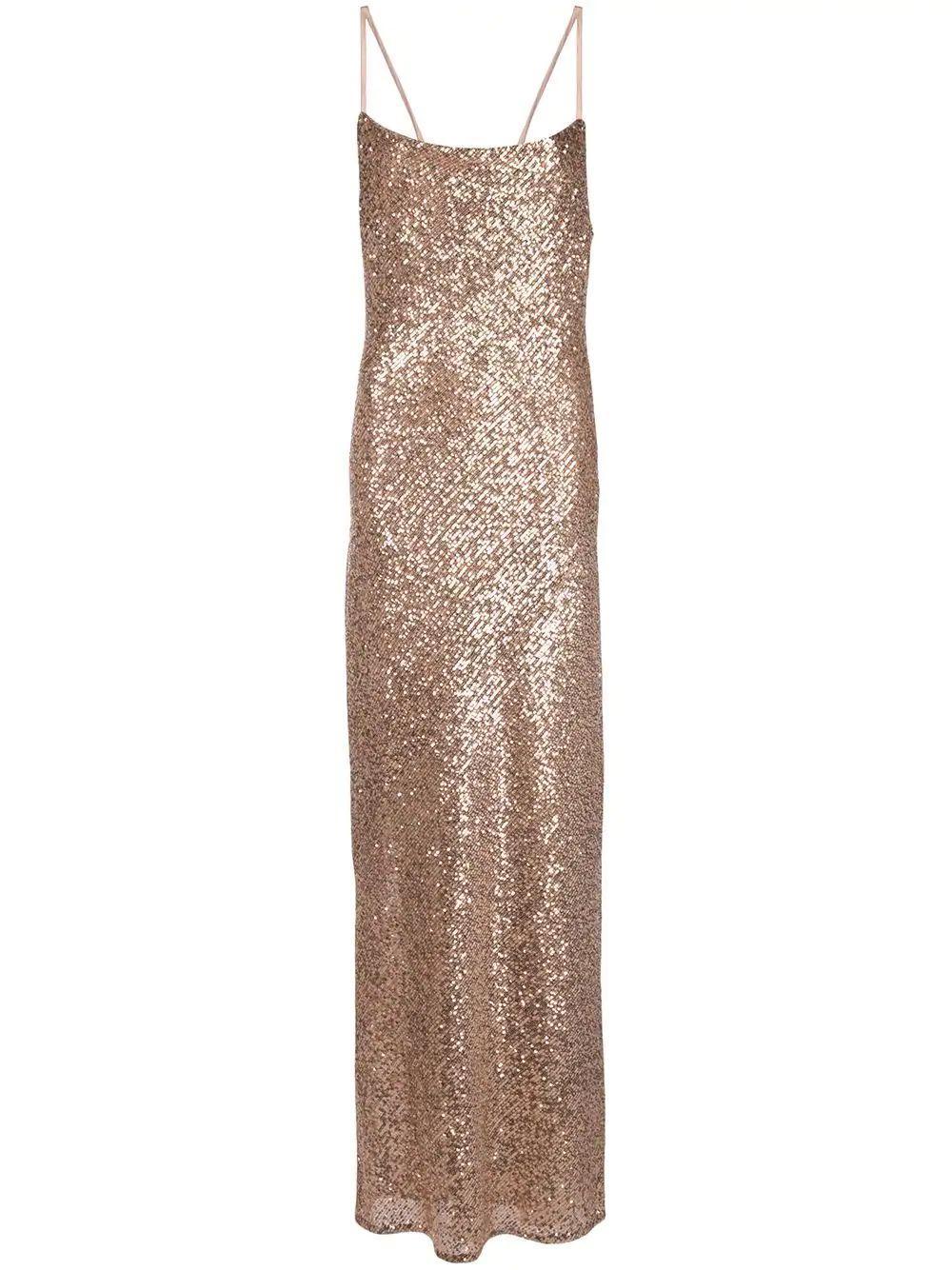 Soiree Bias Cowl Maxi Dress Item # SJ3926