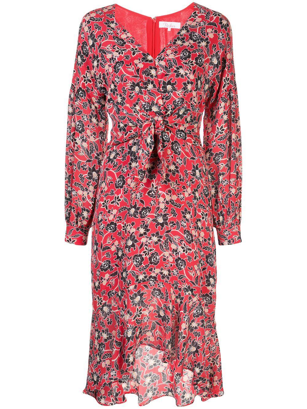 Kinsale Long Sleeve Asymmetrical Hem Dress