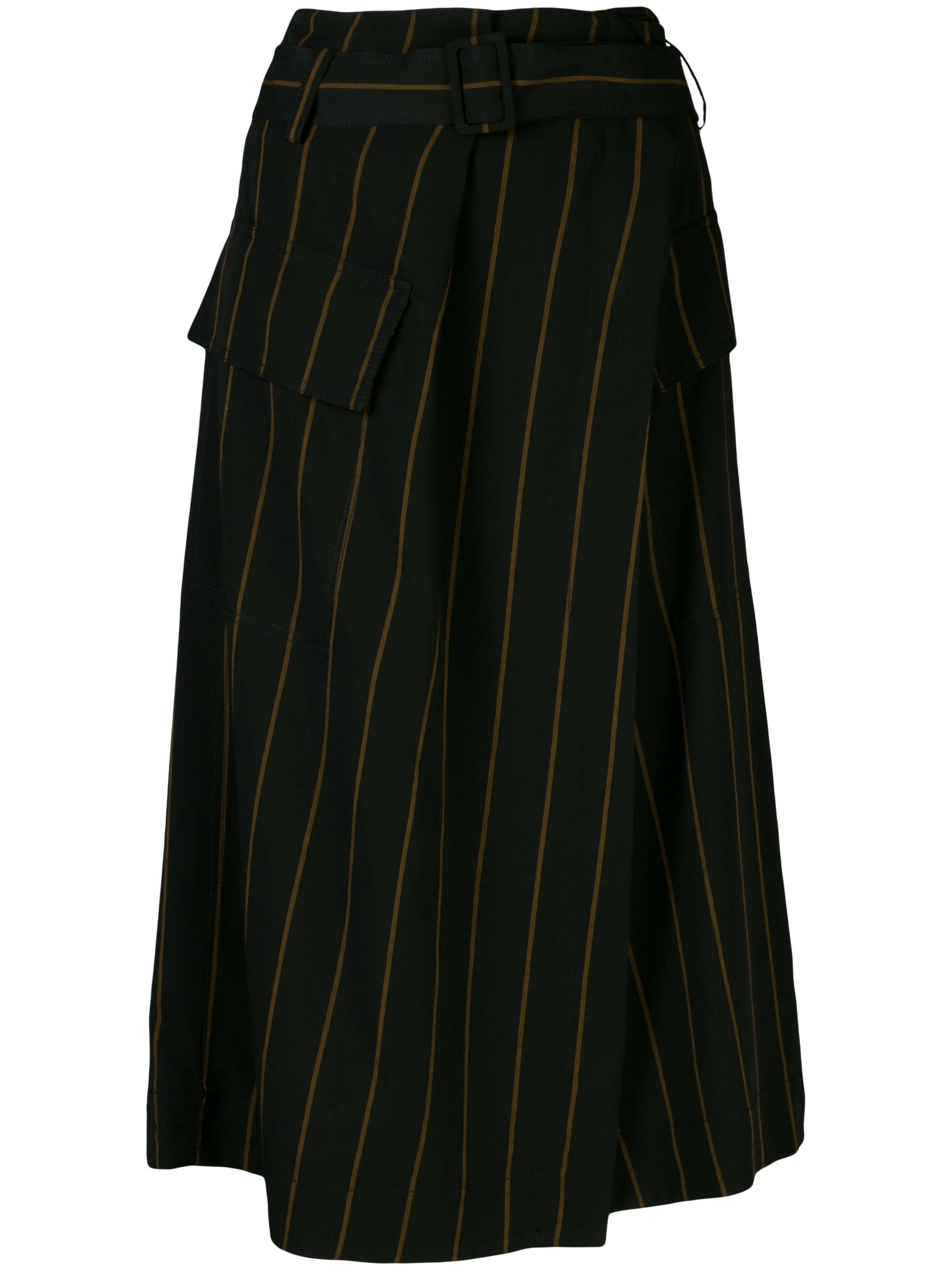 Belted Stripe Utility Midi Skirt Item # V654030590
