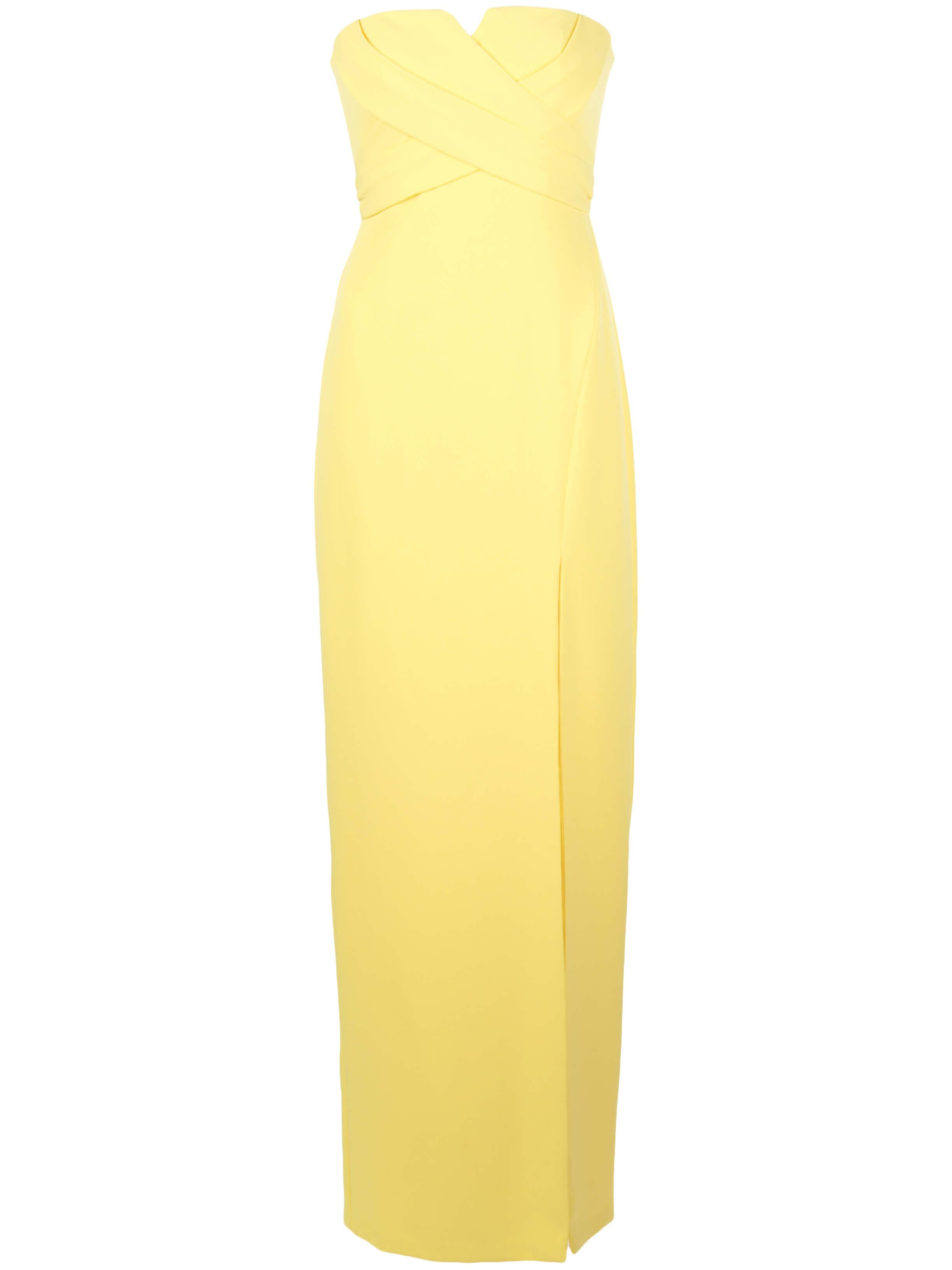 Strapless Crepe Long Dress