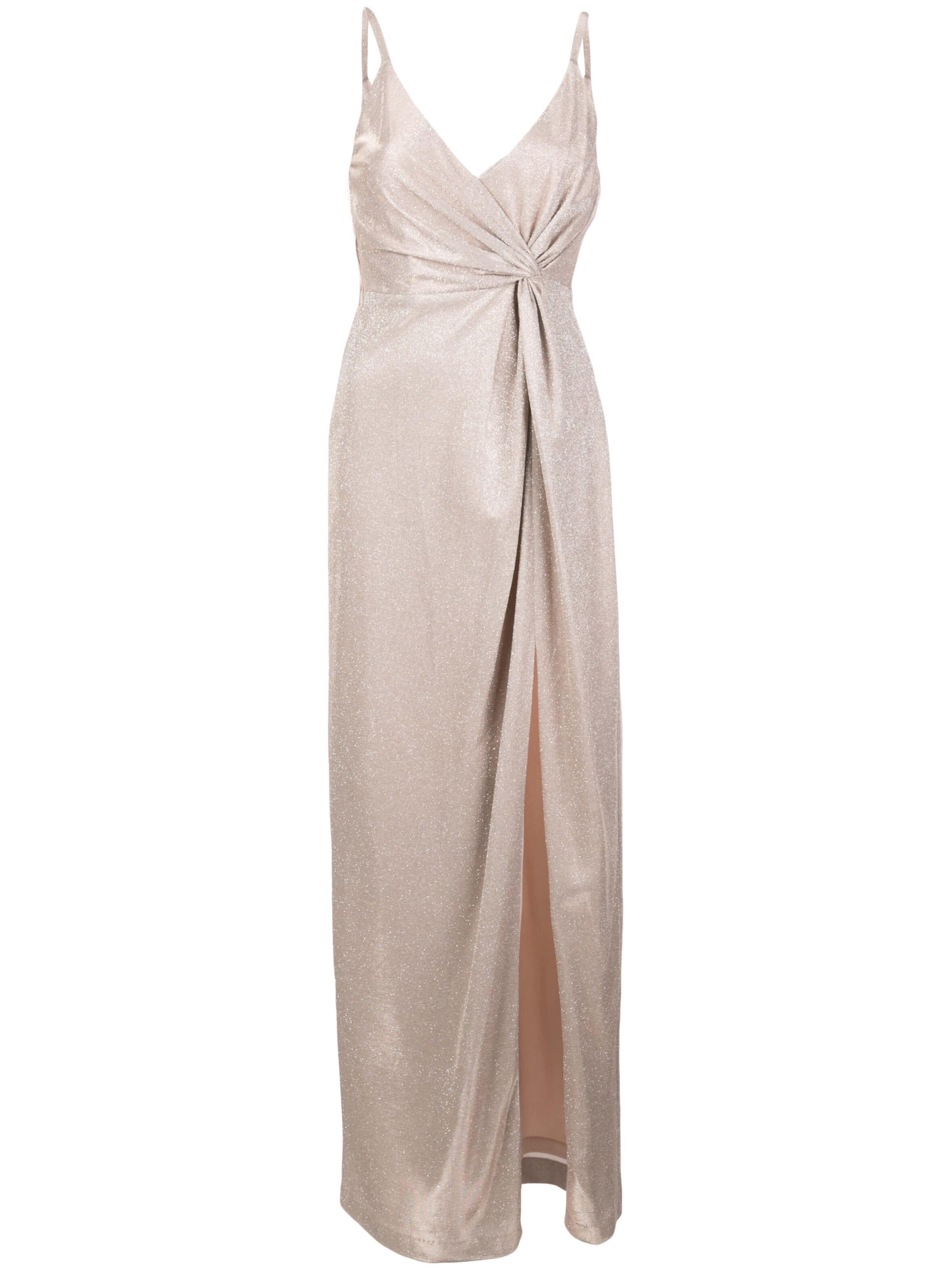 Metallic Knit Twist Dress