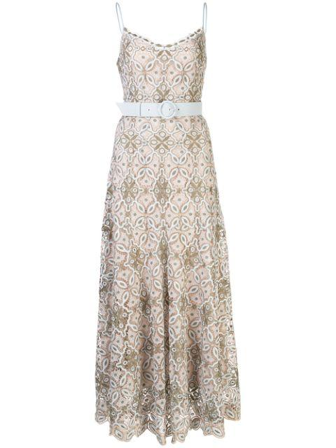Savannah Guipure Lace Midi Dress Item # 220-1067-G