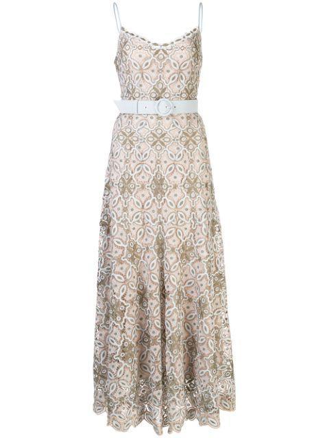 Savannah Guipure Lace Midi Dress
